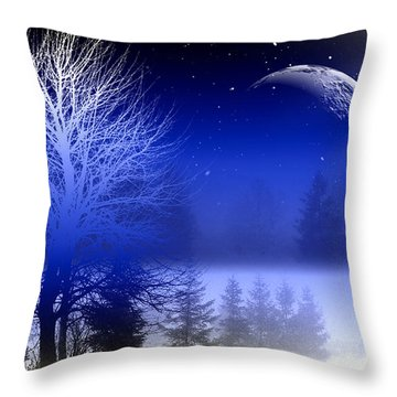 Nature In Blue  Throw Pillow by Mark Ashkenazi