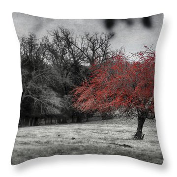 Nature In Red Throw Pillow