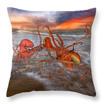 Nature Of The Game Throw Pillow by Betsy Knapp