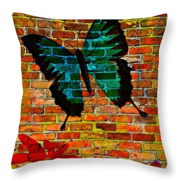 Nature On The Wall Throw Pillow by Leanne Seymour