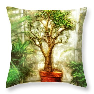 Nature - Plant - Tree Of Life  Throw Pillow by Mike Savad