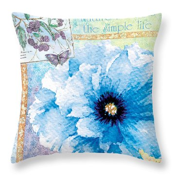 Nature Rewards The Simple Life Throw Pillow