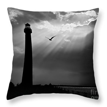 Nature Shines Brighter In Black And White Throw Pillow