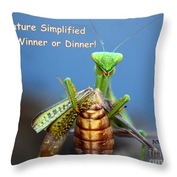 Nature Simplified Throw Pillow