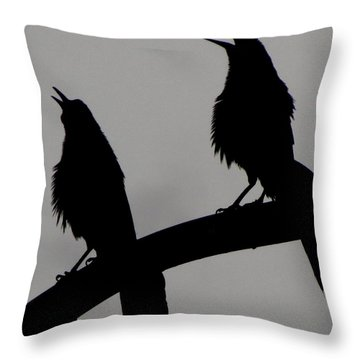 Nature Singing Throw Pillow by Mistys DesertSerenity