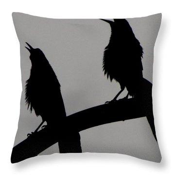 Nature Singing Throw Pillow