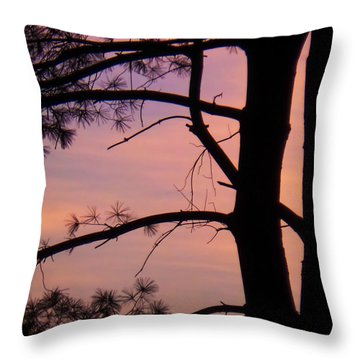 Nature Sunrise Throw Pillow