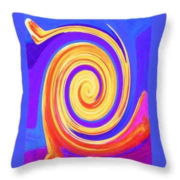 Nature Twirling Throw Pillow by Margaret Saheed
