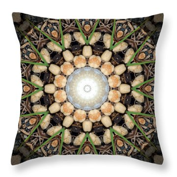 Nature Vortex Mandala #1 Throw Pillow