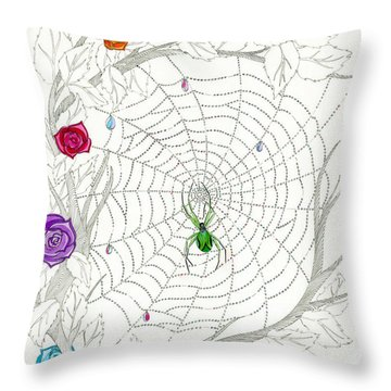 Throw Pillow featuring the drawing Nature's Art by Dianne Levy