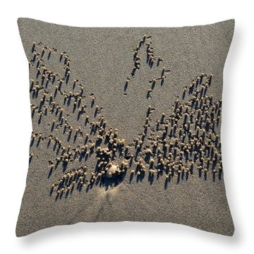 Natures Art - Two Sand Leaves Throw Pillow
