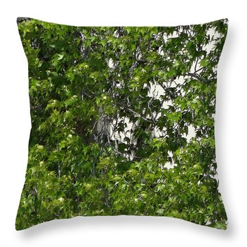 Nature's Art - Wellness Works Glendale - Face In The Tree  Throw Pillow