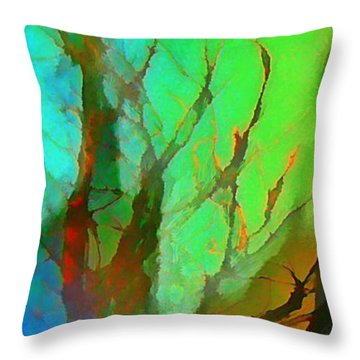 Natures Beauty Abstract Throw Pillow by John Malone