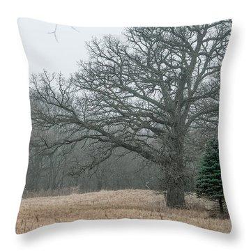 Natures Christmas Tree Throw Pillow