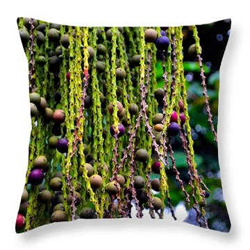 Throw Pillow featuring the photograph Nature's Dreadlocks by Zafer Gurel
