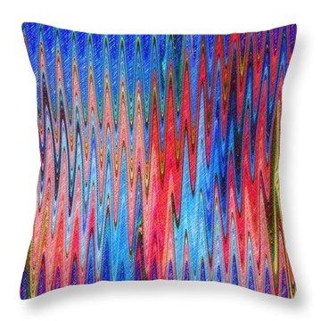 Natures Electrocardiogram Throw Pillow