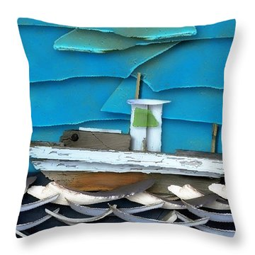Throw Pillow featuring the photograph Natures Elements Art-2 by Nina Bradica