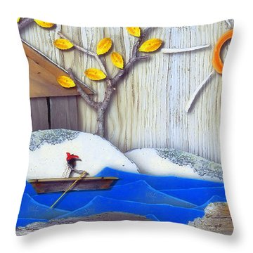 Natures Elements Art-4 Throw Pillow