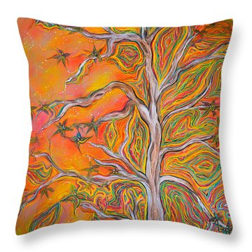Nature's Energy Throw Pillow