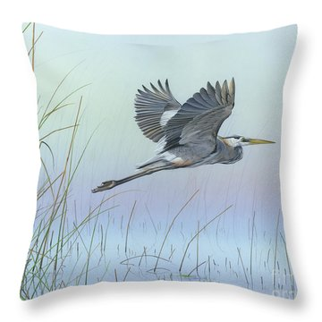 Throw Pillow featuring the painting Nature's Entanglement by Mike Brown