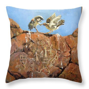 Nature's Fury Throw Pillow by Donna Tucker