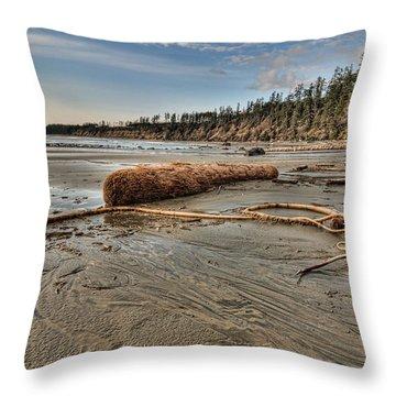 Natures Garbage Throw Pillow by James Wheeler