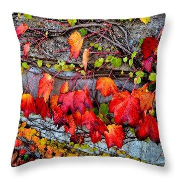 Nature's Garland Throw Pillow