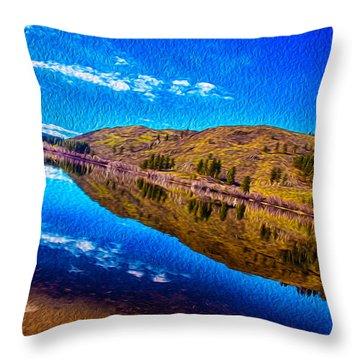 Natures Guitar Throw Pillow by Omaste Witkowski