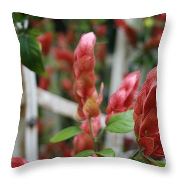 Nature's Hearts Throw Pillow by Marian Palucci-Lonzetta