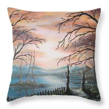 Natures Lights Throw Pillow