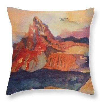 Natures Palette Throw Pillow by Ellen Levinson