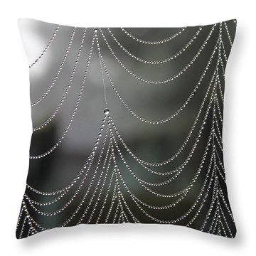 Nature's Pearls Throw Pillow by Angie Vogel