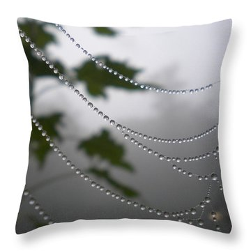Throw Pillow featuring the photograph Nature's Pearls by Diannah Lynch