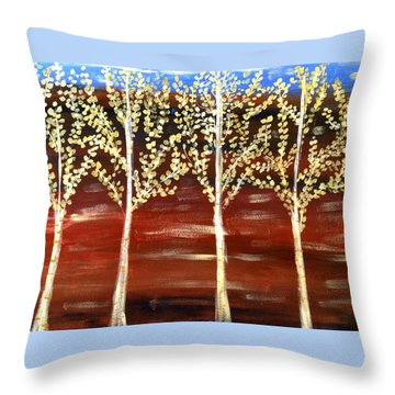Natures Poetry Throw Pillow by Sherry Flaker