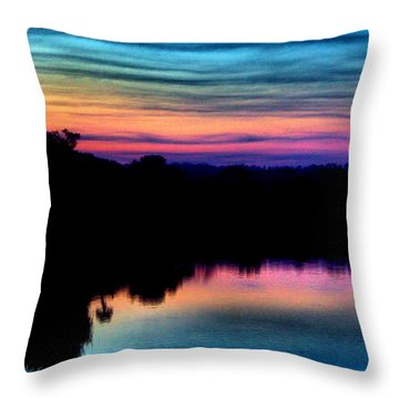 Nature's Rainbow Throw Pillow