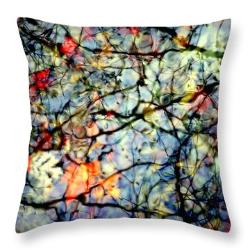 Natures Stained Glass Throw Pillow