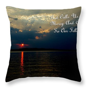 Natures Sunset Throw Pillow by James C Thomas