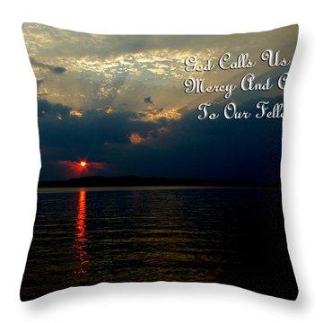 Natures Sunset Throw Pillow