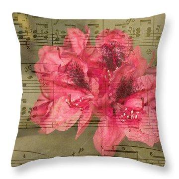 Nature's Tune Throw Pillow