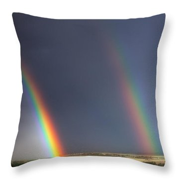 Natures Twin Towers Throw Pillow by Darren  White