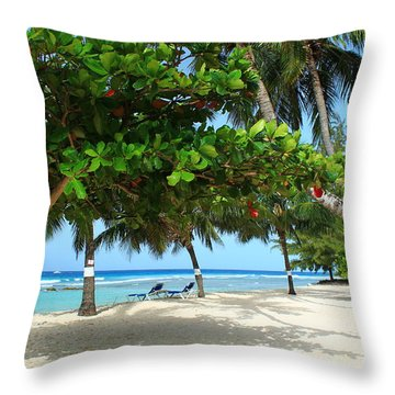 Natures Umbrella Tree Throw Pillow by Catie Canetti