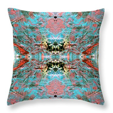 Crystallizing Energy Throw Pillow