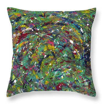 Nature's Vortex Throw Pillow