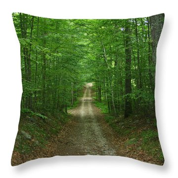 Nature's Way At James L. Goodwin State Forest  Throw Pillow by Neal Eslinger