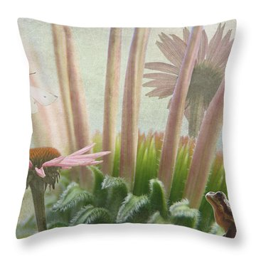 Natures Whimsy Throw Pillow by Angie Vogel