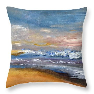 Nauset Beach Surf Throw Pillow