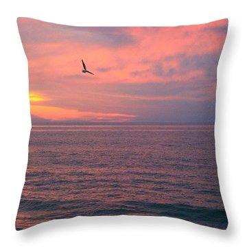 Nauset Gull Throw Pillow