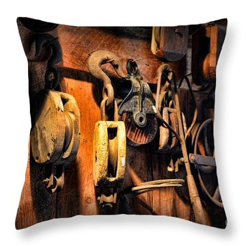 Nautical - Boat - Block And Tackle  Throw Pillow