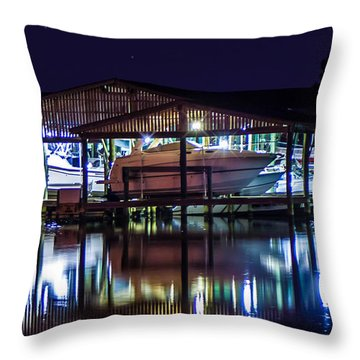Nautical Lights Throw Pillow
