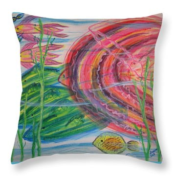 Throw Pillow featuring the painting Nautical Rush Hour by Diane Pape